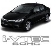 Adesivo Tuning Lateral Honda Civic I-vtec Sohc - Logo Cinza