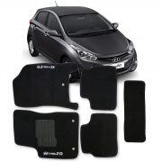 Tapete Carpete Hyundai Hb20 Personalizado 5 Peças - Preto