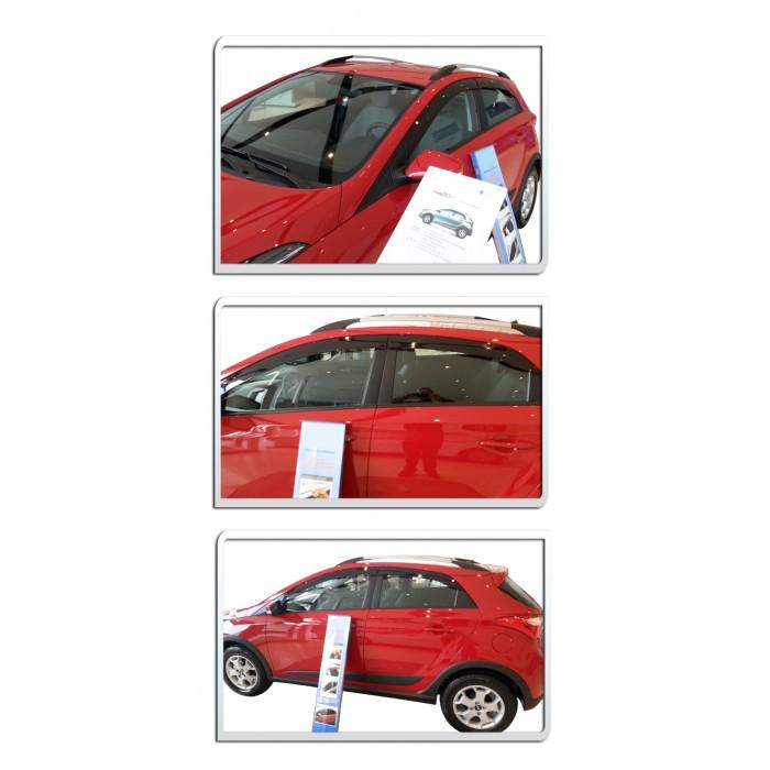 Calha De Chuva Hyundai Hb20 E Hb20X 4 Portas Hatch - Diadema