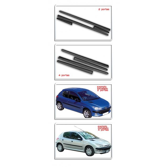 Jogo Friso Lateral Peugeot 206 Todos 2 ou 4 Portas - Diadema