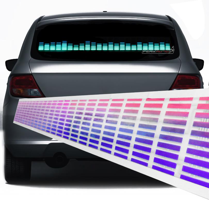 Painel Gráfico Sensor Led Equalizador Rítmico para Carro