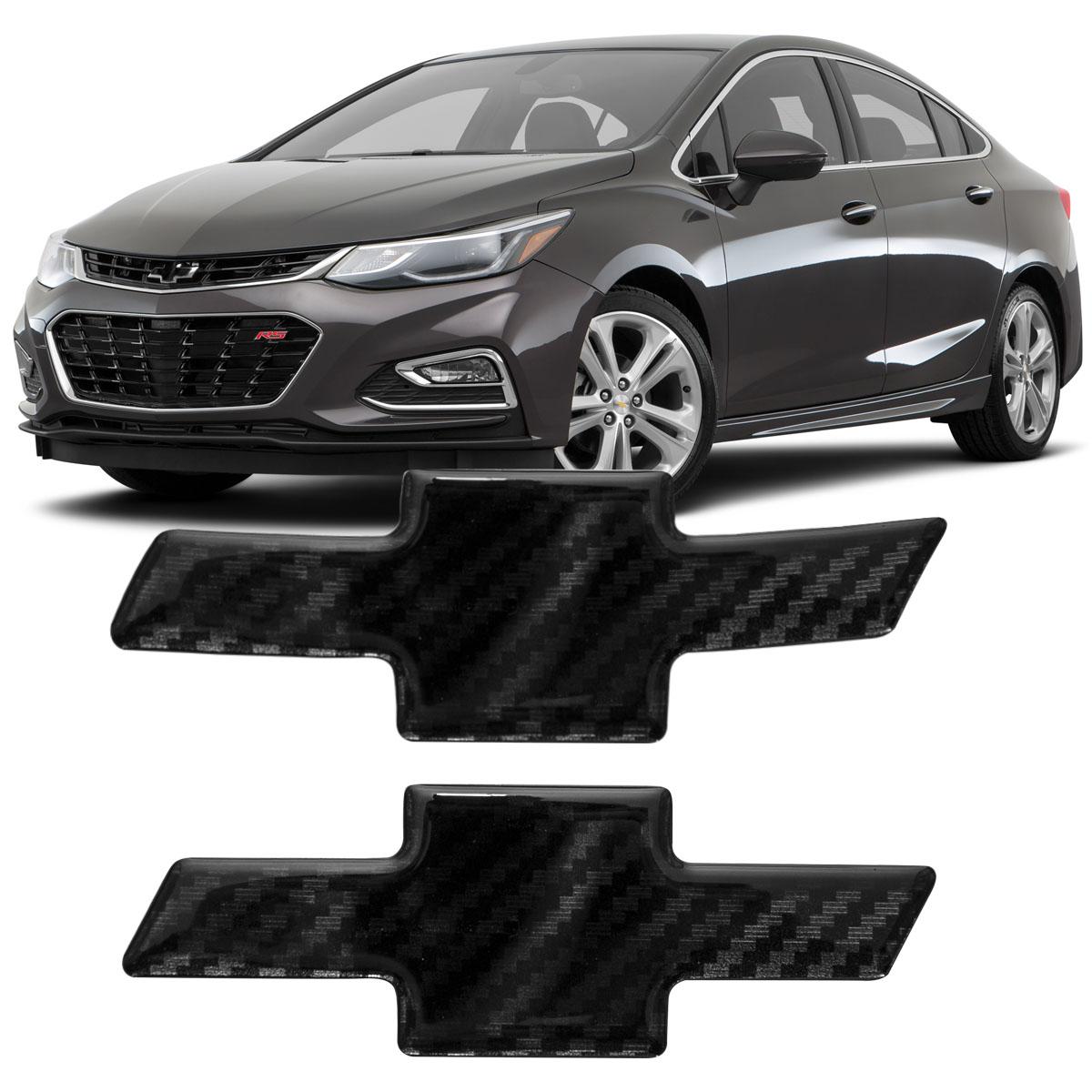 Par Adesívo Emblema Resinado Carbono Gm Cruze Sedan 2017