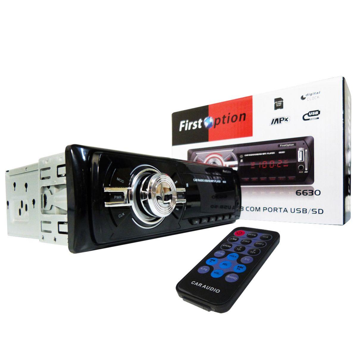 Rádio Som Automotivo MP3 FM USB SD Tela LED Carro