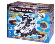 Patins In Line Prata n� 34 ao 37 - F�nix