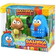 Boneco de Vinil Galinha Pintadinha com Baratinha L�der