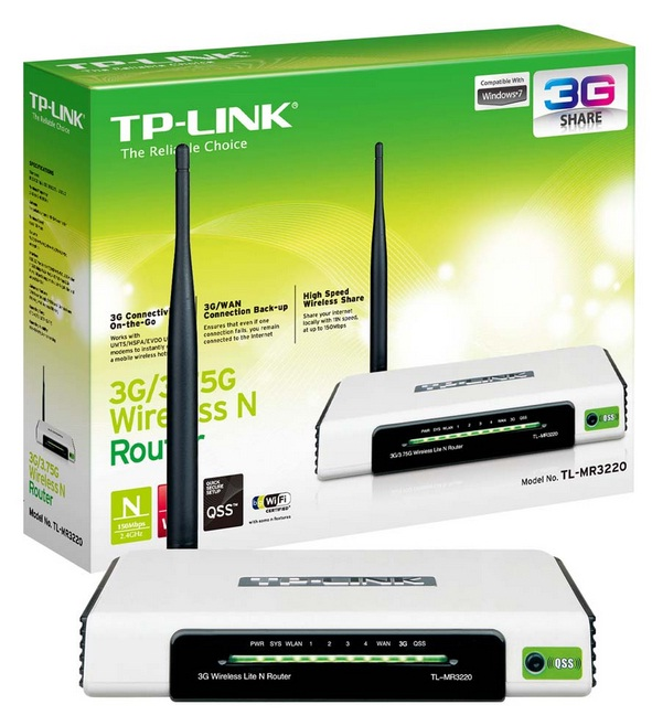 Roteador Wireless 150Mbps 3G TL-MR3220 - TP-LINK