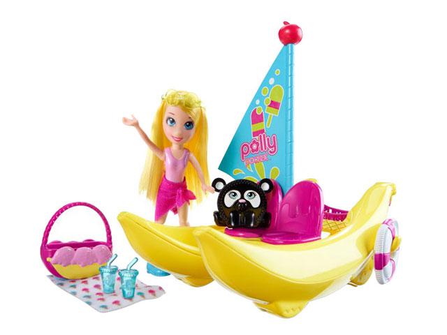 Boneca Polly Pocket Banana Boat - Mattel