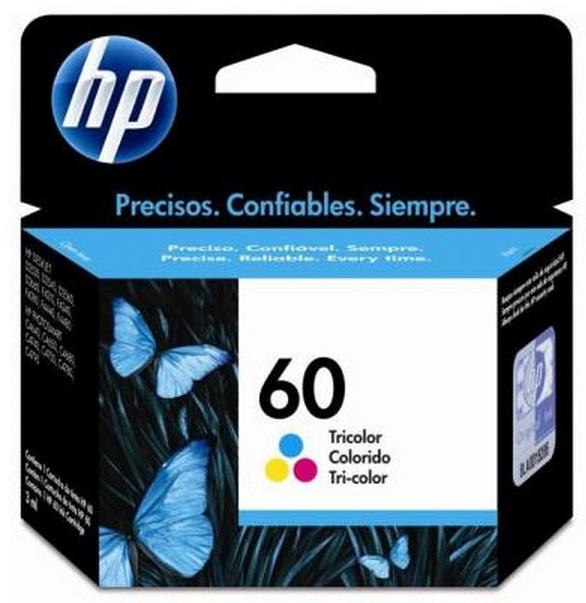 Cartucho de Tinta HP 60 Colorido Original - HP