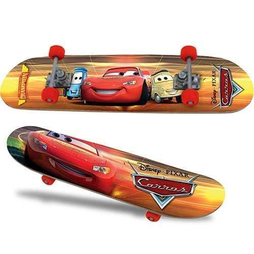 Skate Cars Disney Pixar C/ Capacete e Acessórios - Xalingo