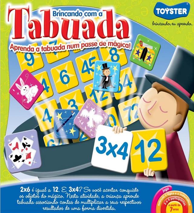 Jogo Brincando com a Tabuada - Toyster