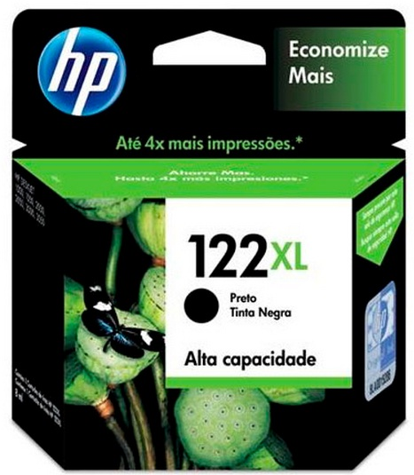 Cartucho de Tinta HP Original 122XL Preto – HP