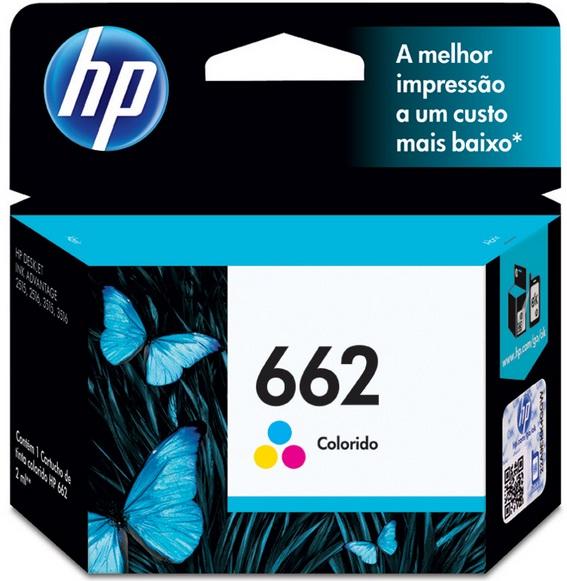 Cartucho de Tinta Colorido HP 662 Original - HP