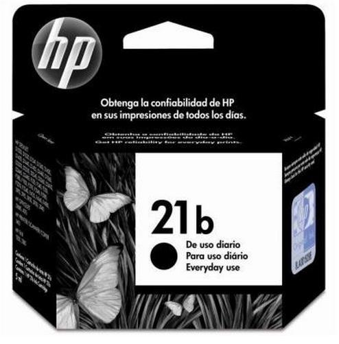 Cartucho de Tinta HP Original 21b Preto – HP