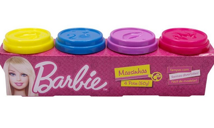 Massinha da Barbie 4 Mini Potes - Fun Brinquedos