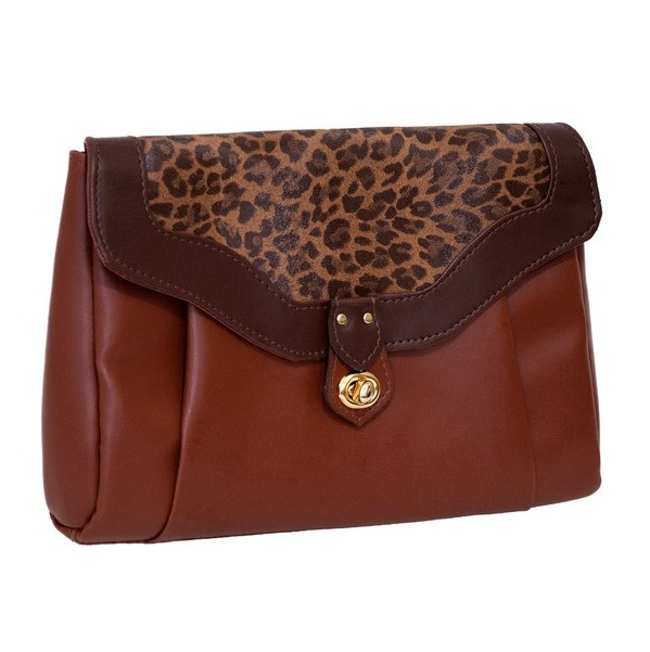 Bolsa Feminina Clutch para Tablet Leopardo - Stella Sabbah