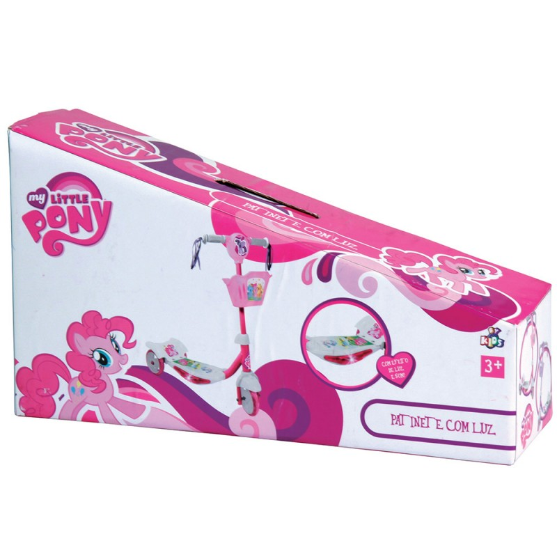 Patinete My Little Pony Rosa com Luz 3 Rodas - Conthey By Kids