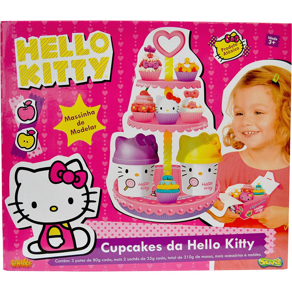 Massinha Cupcakes da Hello Kitty – Sunny Brinquedos