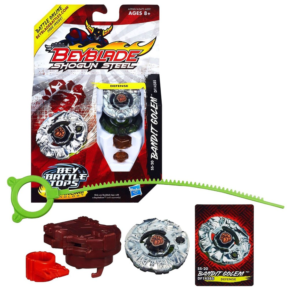 Beyblade Shogun Steel Bandit Golem Defense - Hasbro