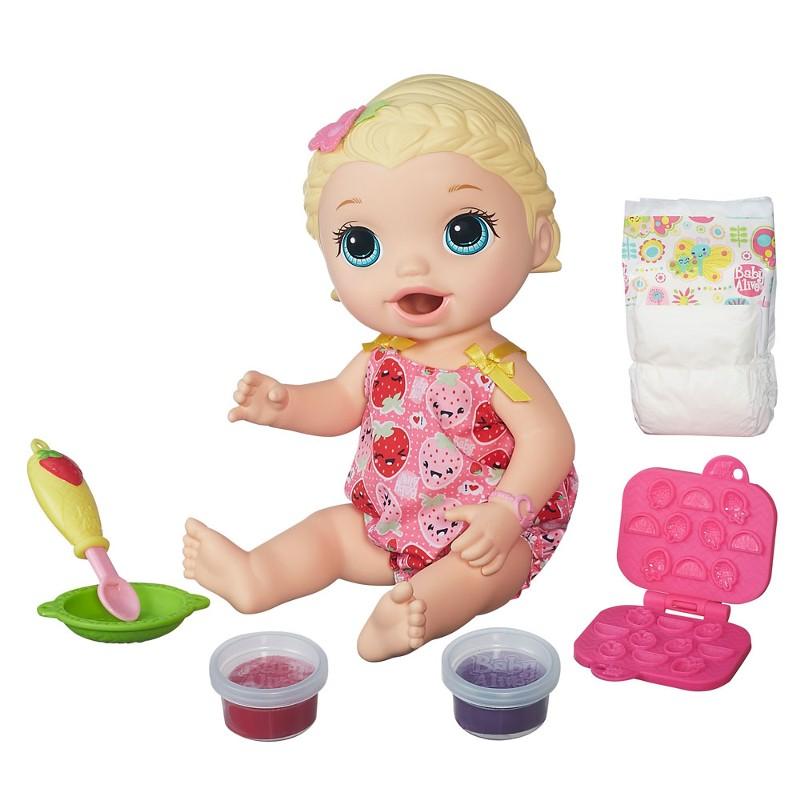 Boneca Baby Alive Lanchinhos Divertidos Loira - Hasbro