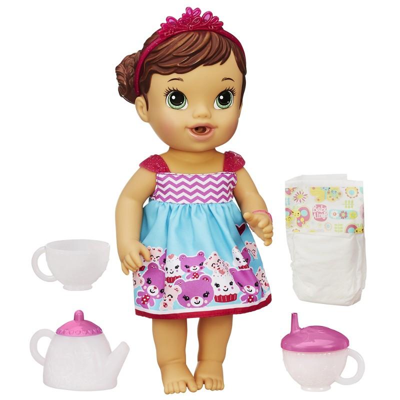 Boneca Baby Alive Morena Hora do Chá - Hasbro