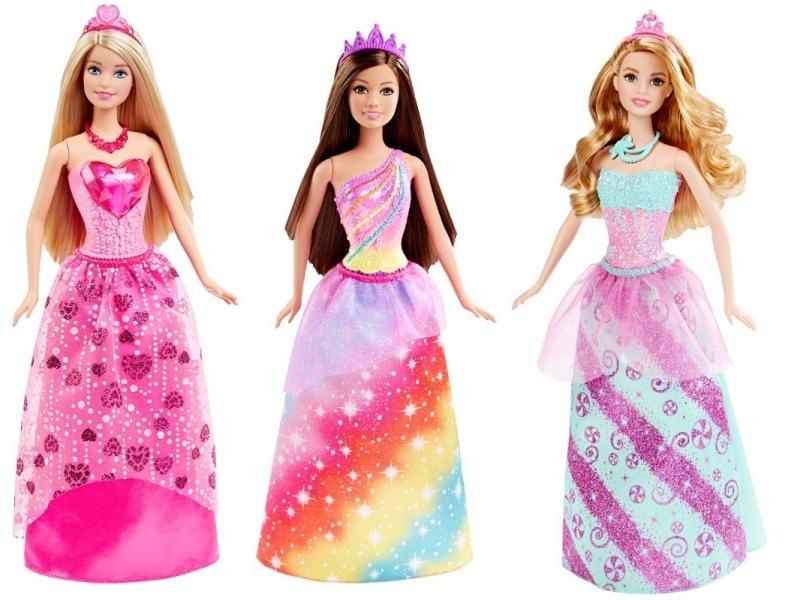 Boneca Barbie Reinos Mágicos Princesa - Reino dos Arcos-Íris/Reino dos Diamantes/Reino dos Doces - Mattel