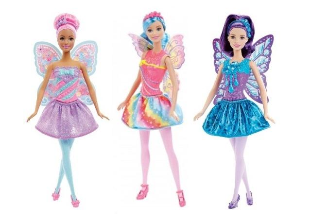 Boneca Barbie Reinos Mágicos Fada - Reino dos Arcos-Íris/ Reino dos Diamantes/ Reino dos Doces - Mattel
