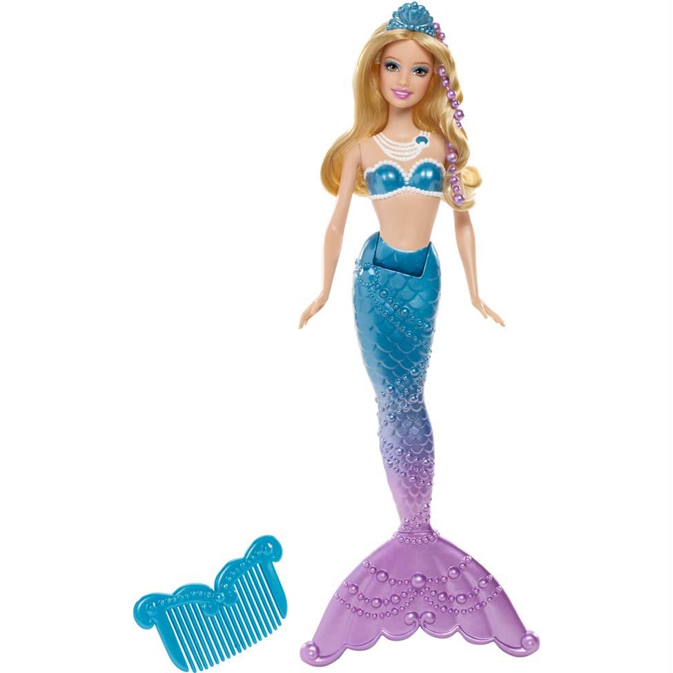 Boneca Barbie Sereia das Pérolas Amiga Azul - Mattel