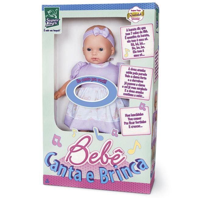 Boneca Bebê Canta e Brinca - Super Toys