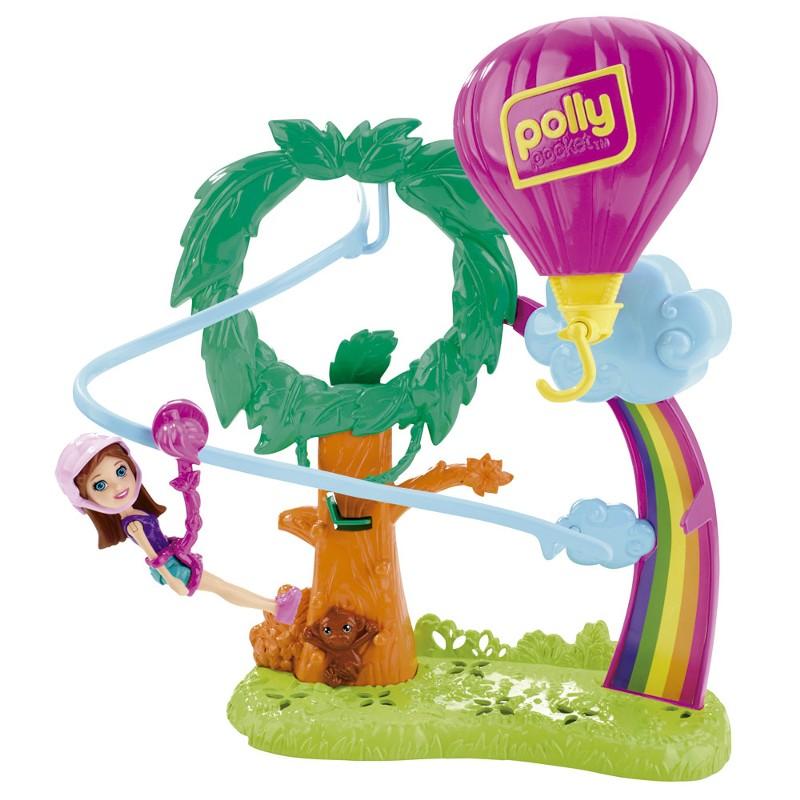 Boneca Polly Pocket Surpresa Safari Balão de Ar Quente - Mattel
