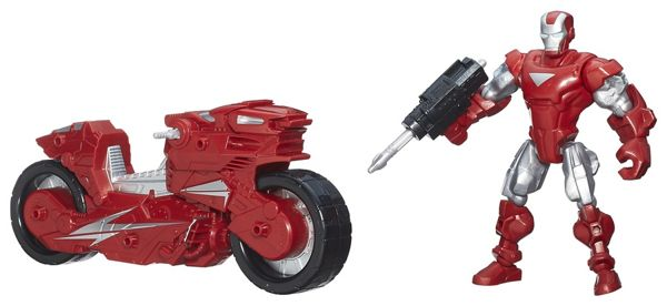 Boneco Super Hero Marshers Iron Man com Moto - Hasbro