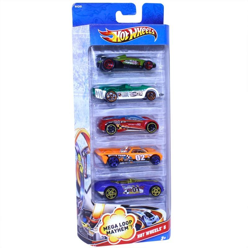 Carrinhos Hot Wheels Pacote com 5 Carros Sortidos - Mattel