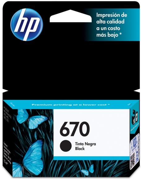 Cartucho de Tinta HP 670 Preto