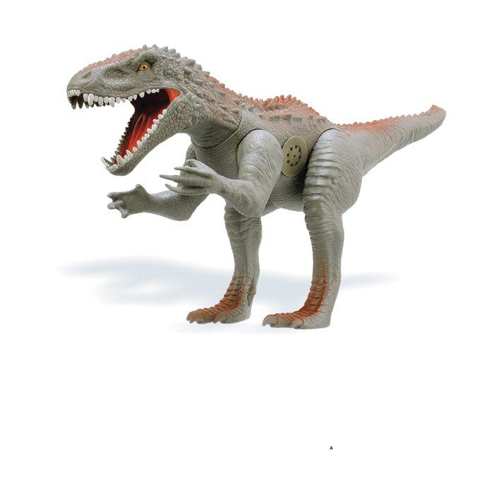 Dinossauro Furious com Som - Cinza/ Marrom - Adijomar