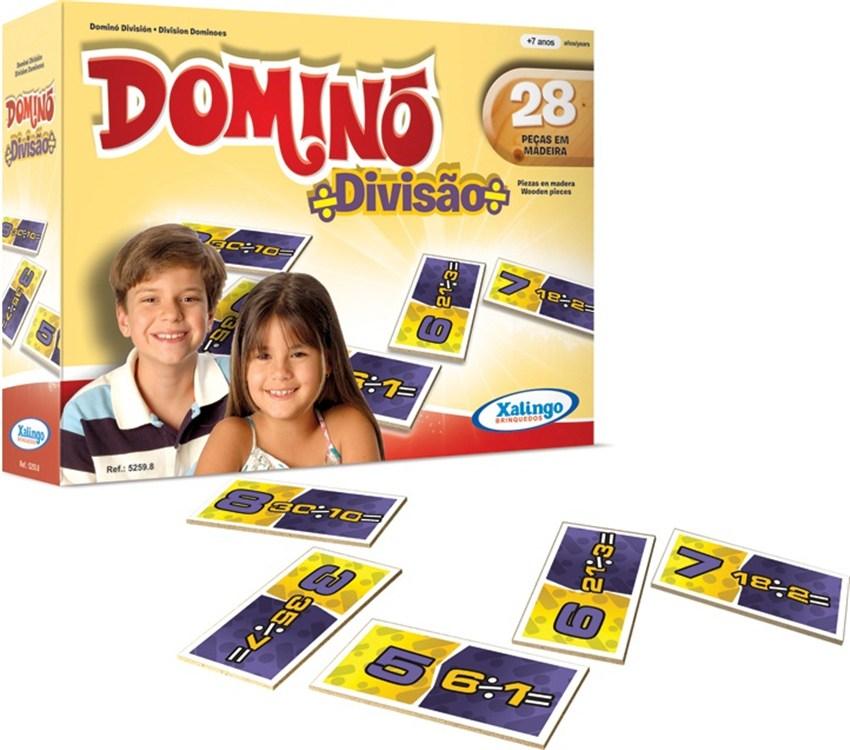 Jogo Dominó Divisão 28 peças - Xalingo
