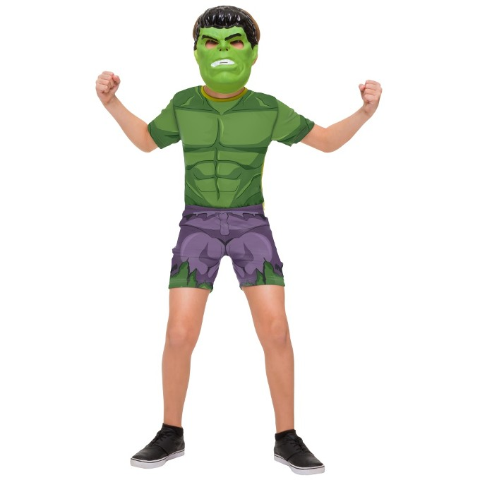 Fantasia Curta Infantil Hulk Avengers P - Rubies