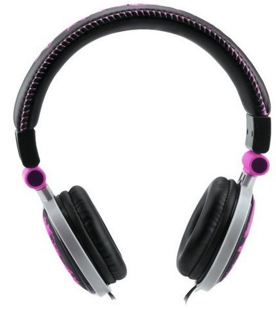 Fone de Ouvido Headphone 3D Skull HP-602PK Roxo - Fortrek