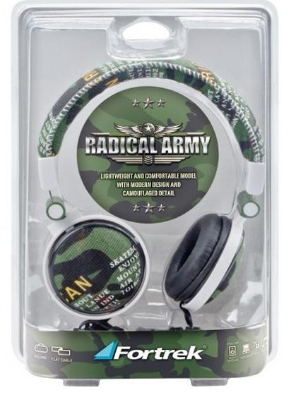 Fone de Ouvido Headphone Radical Army MS5102 Camuflado - Fortrek