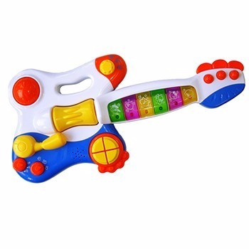 Guitarra Rock Star Baby - Azul/ Rosa - Lider