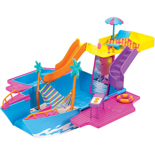 Iate Festa Tropical Polly Pocket 2 em 1 - Mattel