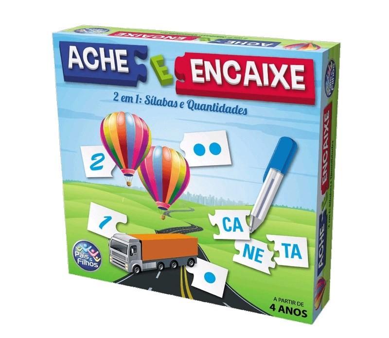 Jogo Ache e Encaixe 2 em 1: Sílabas e Quantidades - Pais e Filhos