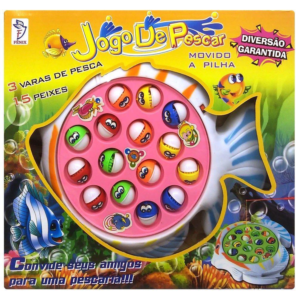 Jogo de Pescar Pega Peixe Sortidos - Fênix