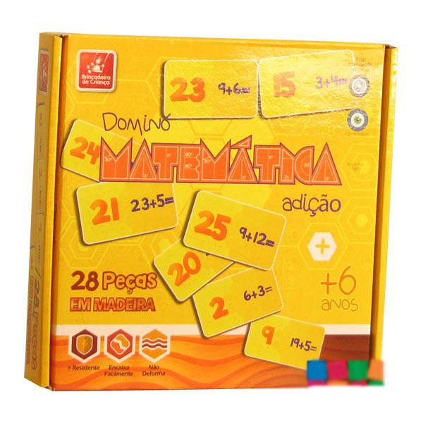 Jogo Dominó Matemática Adição - Brincadeira de Criança