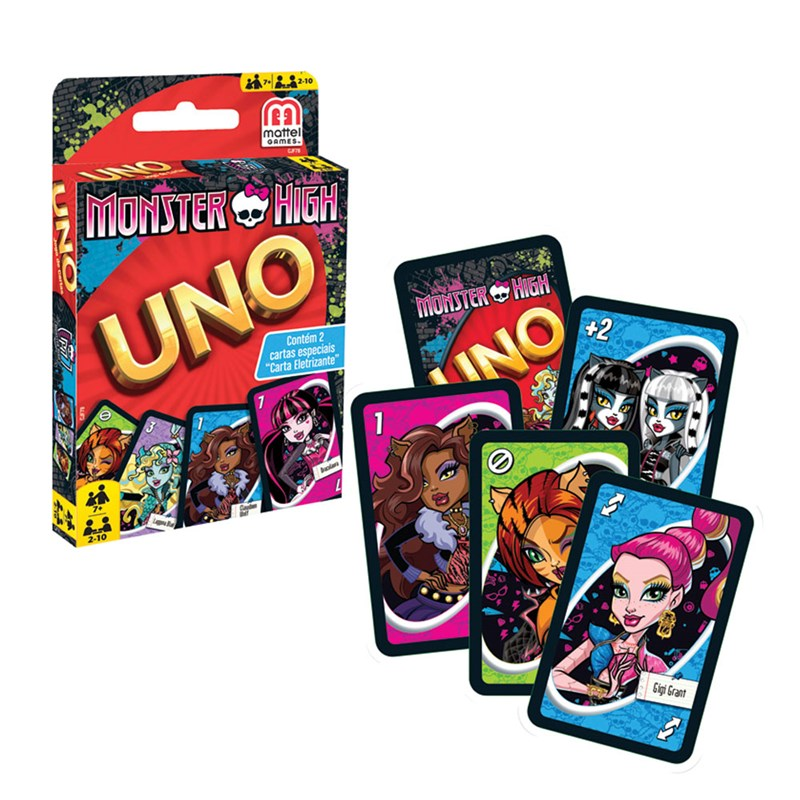 Jogo UNO Monster High Carta Eletrizante - Mattel