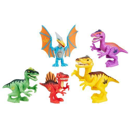 Kit Jurassic World com 5 Dinos de Batalha Playskool - Hasbro