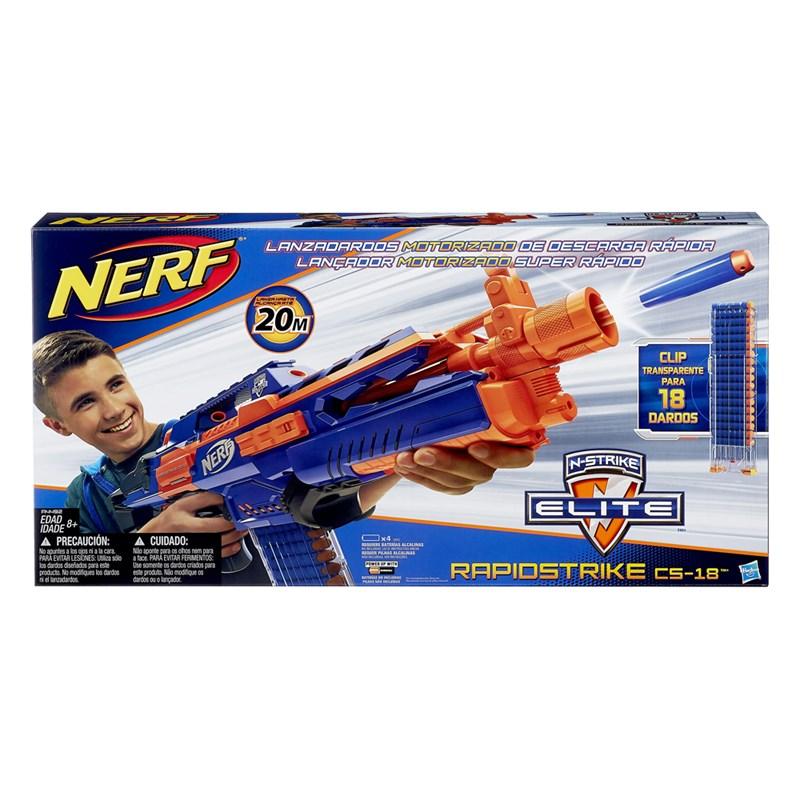 Lançador de Dardos Nerf N-Strike Elite Rapidstrike CS-18 - Hasbro