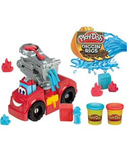 Massinha Play-Doh Bombeiros Diggin Rigs - Hasbro