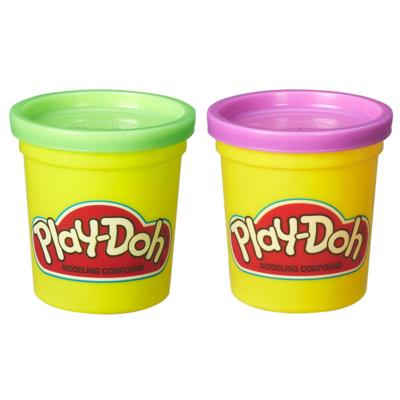 Massinha Play-Doh Kit com 2 Potes Verde e Roxo Bolinhos - Hasbro
