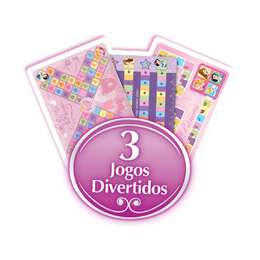 Mesa Jogo Tabuleiro Divertido Princesas - Multibrink