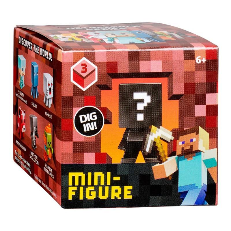 Mini Figura Surpresa S�rie 3 Minecraft - Mattel