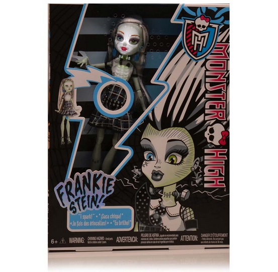 Boneca Monster High Frankie Stein Choque Eletrizante - Mattel